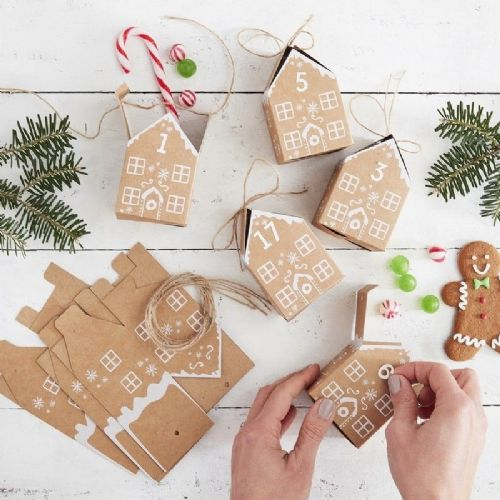 Gingerbread House Christmas Advent Calendar Boxes
